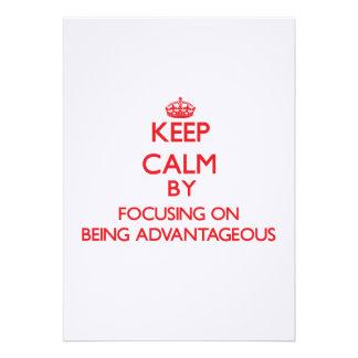 Guarde la calma centrándose en ser ventajoso comunicados