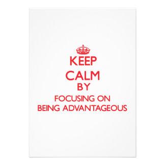 Guarde la calma centrándose en ser ventajoso comunicados personales