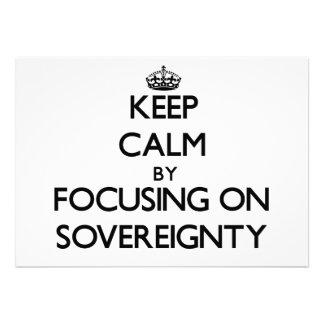Guarde la calma centrándose en soberanía anuncio