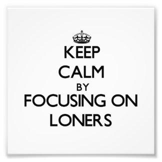 Guarde la calma centrándose en solitarios