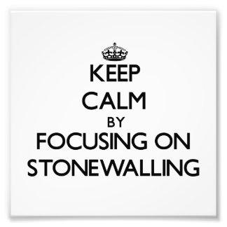 Guarde la calma centrándose en Stonewalling