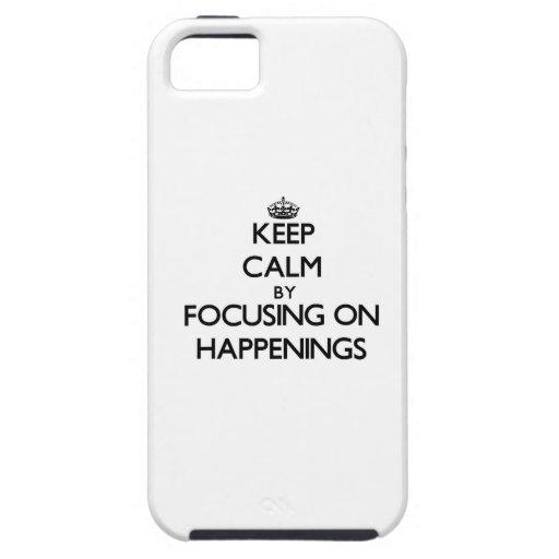 Guarde la calma centrándose en sucesos iPhone 5 Case-Mate protectores