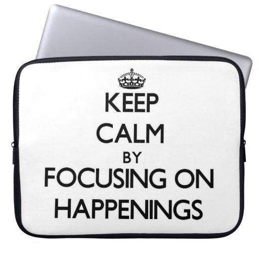 Guarde la calma centrándose en sucesos mangas portátiles