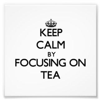 Guarde la calma centrándose en té