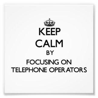 Guarde la calma centrándose en telefonistas