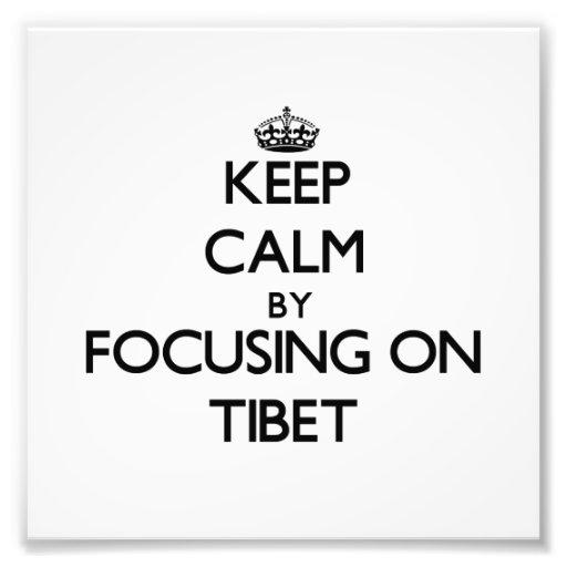 Guarde la calma centrándose en Tíbet Impresion Fotografica