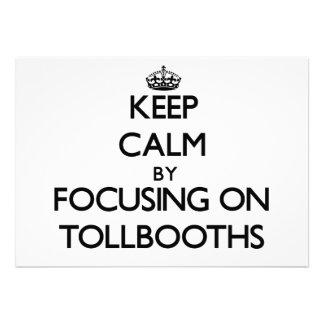 Guarde la calma centrándose en Tollbooths Comunicado