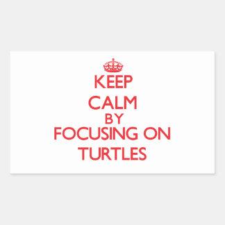 Guarde la calma centrándose en tortugas rectangular altavoces