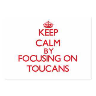 Guarde la calma centrándose en Toucans Tarjeta De Negocio