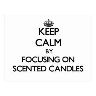 Guarde la calma centrándose en velas perfumadas tarjeta postal