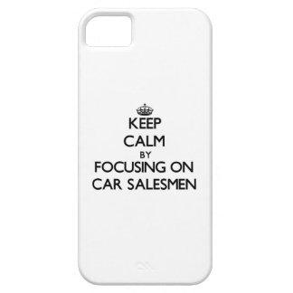 Guarde la calma centrándose en vendedores de coche iPhone 5 Case-Mate funda