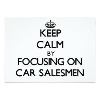 Guarde la calma centrándose en vendedores de