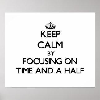 Guarde la calma centrándose en vez y media impresiones