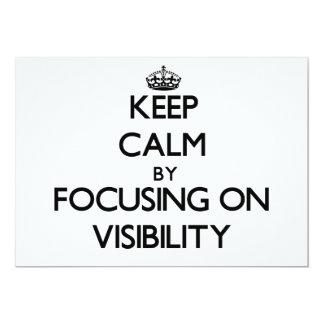 Guarde la calma centrándose en visibilidad invitación 12,7 x 17,8 cm