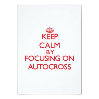 Guarde la calma centrándose encendido en Autocross Comunicados Personales