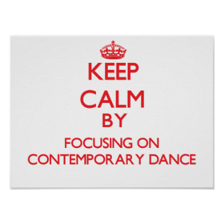 Guarde la calma centrándose encendido en danza con poster