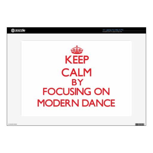 Guarde la calma centrándose encendido en danza mod skins para 38,1cm portátil