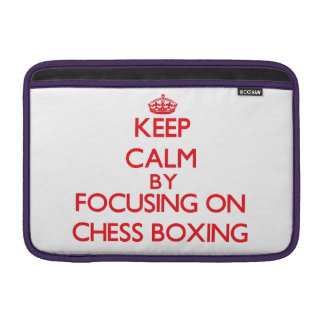 Guarde la calma centrándose encendido en el boxeo fundas macbook air