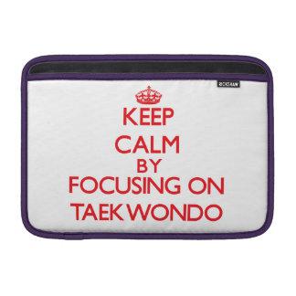Guarde la calma centrándose encendido en el Taekwo Fundas Macbook Air