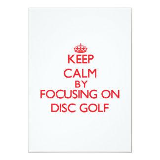 Guarde la calma centrándose encendido en golf del invitación 12,7 x 17,8 cm