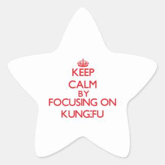 Guarde la calma centrándose encendido en Kung-Fu Pegatina