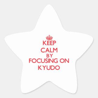 Guarde la calma centrándose encendido en Kyudo Calcomanías Forma De Estrellaes Personalizadas