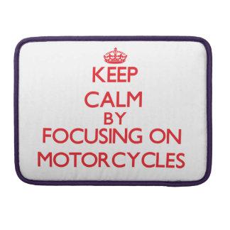 Guarde la calma centrándose encendido en las motoc funda para macbooks