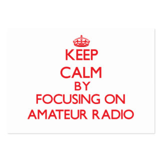 Guarde la calma centrándose encendido en radio afi plantilla de tarjeta de visita