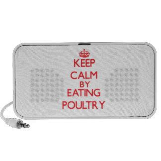Guarde la calma comiendo aves de corral PC altavoces