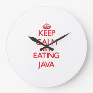 Guarde la calma comiendo Java Relojes