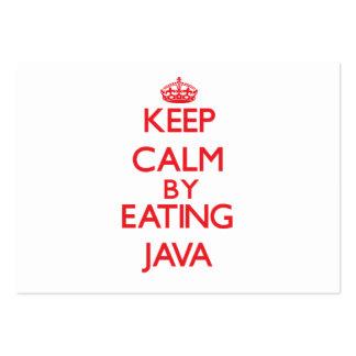 Guarde la calma comiendo Java Plantillas De Tarjeta De Negocio