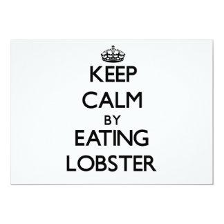 Guarde la calma comiendo la langosta comunicado personal