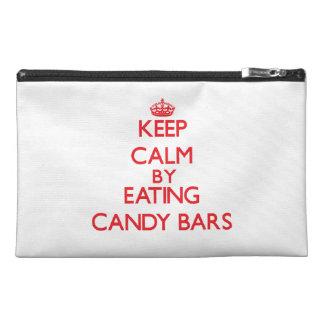 Guarde la calma comiendo las barras de caramelo