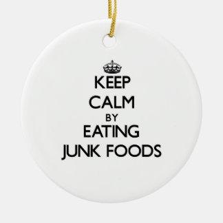 Guarde la calma comiendo las comidas de desperdici ornamentos para reyes magos
