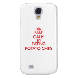 Guarde la calma comiendo las patatas fritas