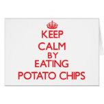 Guarde la calma comiendo las patatas fritas felicitacion