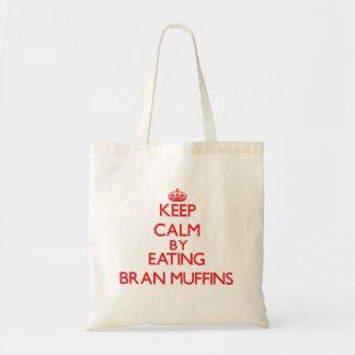 Guarde la calma comiendo los molletes de salvado bolsa de mano