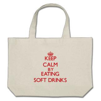 Guarde la calma comiendo los refrescos bolsas
