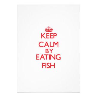 Guarde la calma comiendo pescados invitación