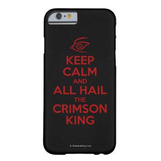Guarde la calma con el rey carmesí funda barely there iPhone 6