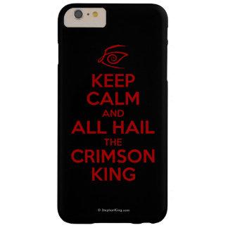 Guarde la calma con el rey carmesí funda barely there iPhone 6 plus