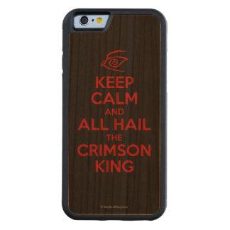 Guarde la calma con el rey carmesí funda de iPhone 6 bumper cerezo