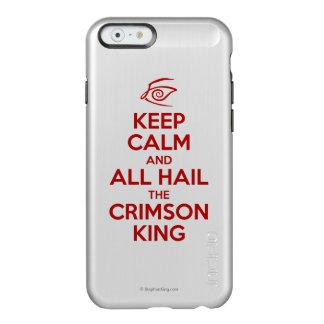 Guarde la calma con el rey carmesí funda para iPhone 6 plus incipio feather shine