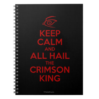 Guarde la calma con el rey carmesí libretas