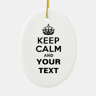 Guarde la calma con su texto ornamentos de reyes magos