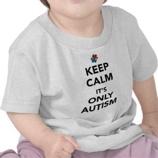 Guarde la calma - conciencia del autismo camiseta