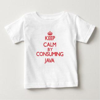 Guarde la calma consumiendo Java T-shirt