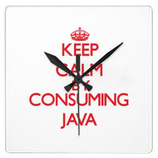 Guarde la calma consumiendo Java Reloj
