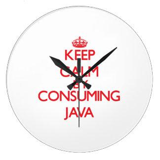 Guarde la calma consumiendo Java Relojes