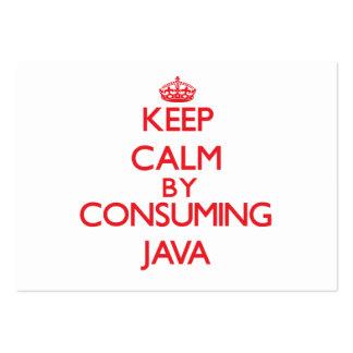 Guarde la calma consumiendo Java Tarjeta De Visita